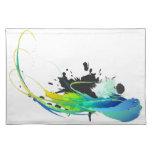 Salpicaduras abstractas de la pintura de aguas fre mantel individual