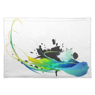 Salpicaduras abstractas de la pintura de aguas fre manteles individuales
