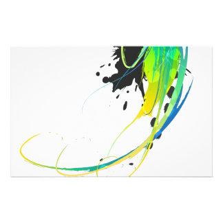 Salpicaduras abstractas de la pintura de aguas fre  papeleria