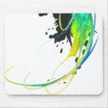 Salpicaduras abstractas de la pintura de aguas fre alfombrillas de ratones