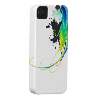 Salpicaduras abstractas de la pintura de aguas iPhone 4 Case-Mate cobertura