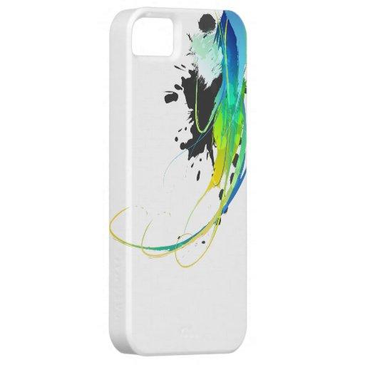 Salpicaduras abstractas de la pintura de aguas iPhone 5 carcasa