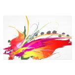 Salpicaduras abstractas de la pintura de la ave de  papeleria