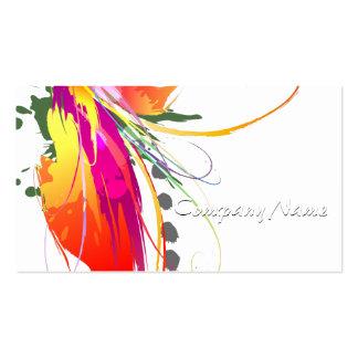 Salpicaduras abstractas de la pintura de la ave tarjetas de visita