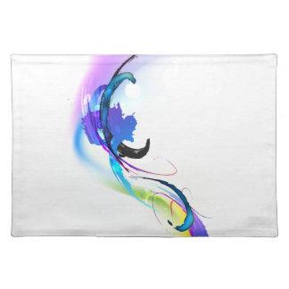 Salpicaduras abstractas de la pintura de la correh mantel individual