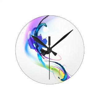 Salpicaduras abstractas de la pintura de la correh reloj