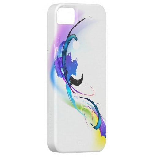 Salpicaduras abstractas de la pintura de la funda para iPhone SE/5/5s