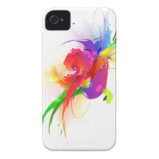Salpicaduras abstractas de la pintura de Lorikeet iPhone 4 Case-Mate Coberturas