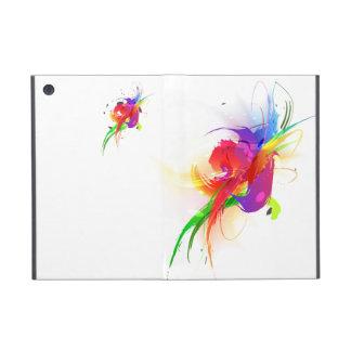 Salpicaduras abstractas de la pintura de Lorikeet iPad Mini Cobertura