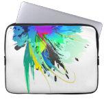 Salpicaduras abstractas de la pintura del pavo rea manga portátil