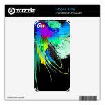 Salpicaduras abstractas de la pintura del pavo rea calcomanía para iPhone 4