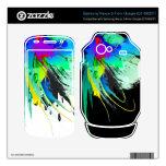 Salpicaduras abstractas de la pintura del pavo rea skins para google nexus s