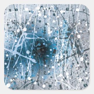Salpicaduras azules hermosas del arte abstracto