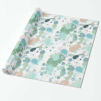 Salpicaduras de la pintura de la acuarela papel de regalo