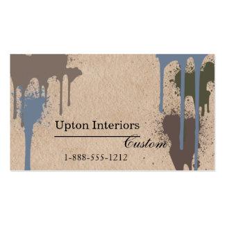 Salpicaduras de la pintura y papel de Brown neutra Plantilla De Tarjeta Personal