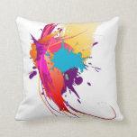 Salpicaduras exóticas abstractas de la pintura de  almohadas