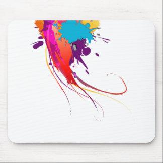 Salpicaduras exóticas abstractas de la pintura de  tapete de raton