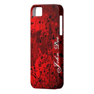 Salpicaduras rojas hermosas del arte abstracto funda para iPhone SE/5/5s