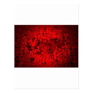 Salpicaduras rojas hermosas del arte abstracto postales