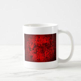 Salpicaduras rojas hermosas del arte abstracto taza de café