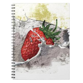 Salpicar diseño artístico de la fresa libretas