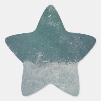 Salpicar el agua pegatina en forma de estrella