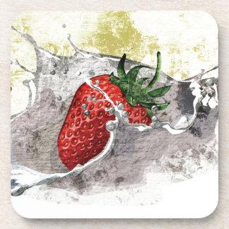 Salpicar la fresa posavasos de bebidas