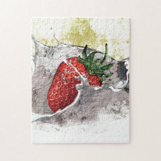 Salpicar la fresa rompecabeza con fotos