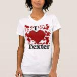 Salpico la camiseta de Dexter del corazón