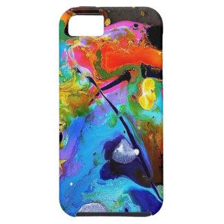 Salpicón abstracto de la pintura funda para iPhone SE/5/5s