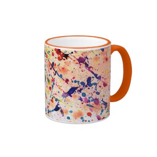 Salpicón de la acuarela taza a dos colores