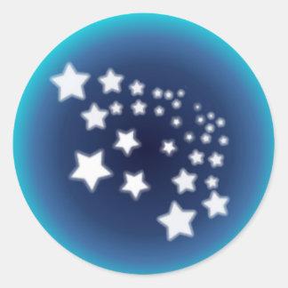 Salpicón de la estrella pegatina redonda