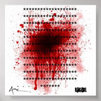 salpicón de la sangre, copia de la etiqueta del au impresiones