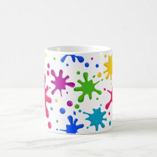 Salpicón del color taza