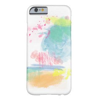 Salpicones vibrantes, coloridos de la acuarela funda barely there iPhone 6