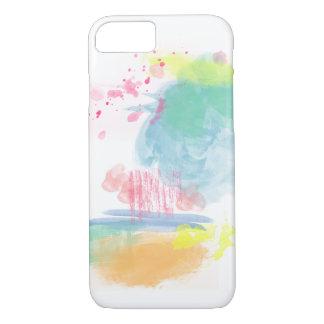 Salpicones vibrantes, coloridos de la acuarela funda iPhone 7