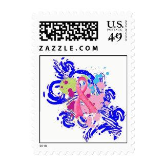 Salpiqúeme franqueo rosado sello postal