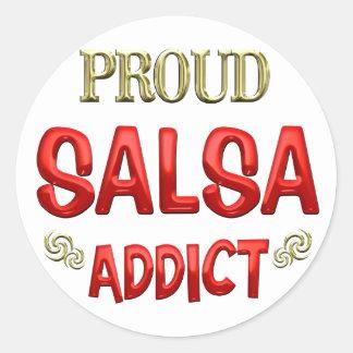 Salsa Addict Classic Round Sticker