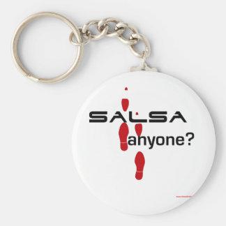 Salsa Anyone? Basic Round Button Keychain