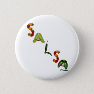 Salsa Chili Peppers Pinback Button