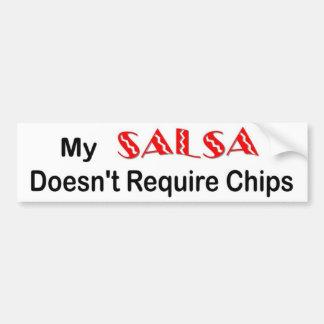 """Salsa chips"" bumper sticker"
