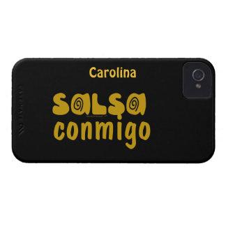 Salsa Conmigo Dancing Personalized iphone 4g Cover