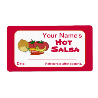Salsa Custom Canning Jar Stickers Personalized Shipping Label
