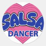 SALSA DANCER-1 PEGATINA REDONDA