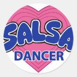 SALSA DANCER-3 ETIQUETA REDONDA