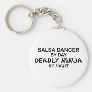 Salsa Dancer Deadly Ninja by Night Basic Round Button Keychain