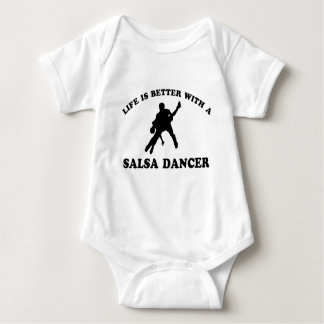 Salsa Dancer Designs Baby Bodysuit