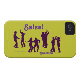 Salsa Dancers Silhouettes Latin Dancing Blackberry iPhone 4 Cover