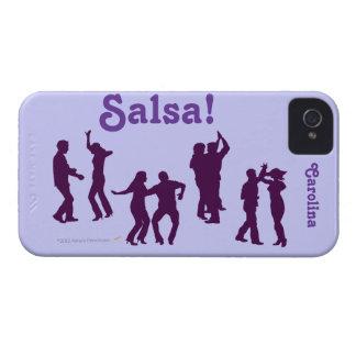 Salsa Dancers Silhouettes Latin Dancing iphone 4g iPhone 4 Case-Mate Case