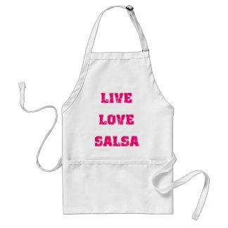 Salsa dancing adult apron